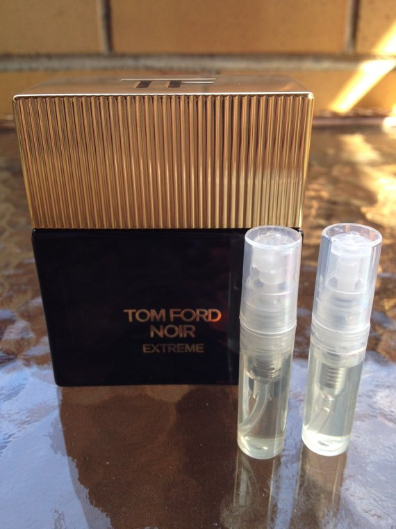 TOM FORD NOIR EXTREME - TWO 1.7 ml Sample Spray Atomizers - 100% Authentic