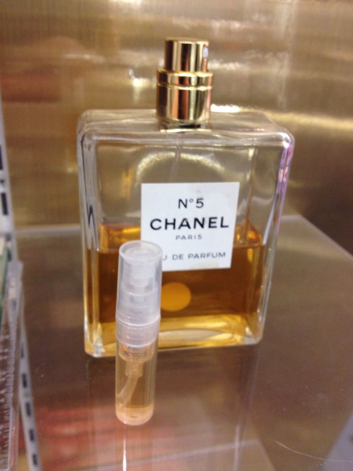 CHANEL NO 5 EAU DE PARFUM - 1.7 ml Perfume Sample Spray Atomizer - 100% Authentic