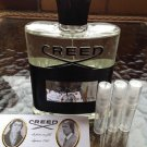 CREED AVENTUS Eau De Parfum - THREE 1.7 ml Sample Spray Atomizers  - 100% Authentic