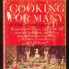1962 COOKING FOR MANY Vintage RECIPE Turgeon HC/DJ