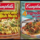 Lot of 2 CAMPBELL'S Casseroles 1-DISH 4 Ingreds CKBKS