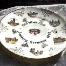 "NCO WIVES CLUB Bamberg GERMANY 1968 10"" Plate GILT"