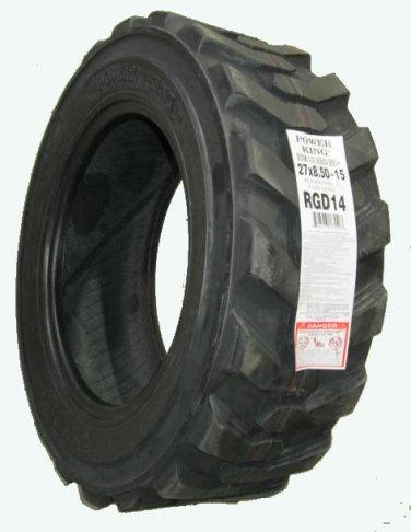 27x8.50-15 LRD Skid Steer R4 loader lug tire Power King  FREE SHIPPING!