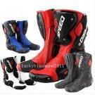 New Men Motorcycle Sportbike Motor bike motor GP racing high fiber Leather Boots