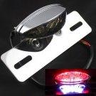 Motorcycle LED Running Tail Brake Stop Light License Plate Holder Harley Custom