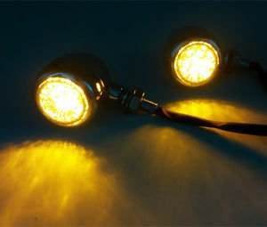 Metal Turn Signal Lights Indicator Motorcycles Cruiser Bobber Chopper MX Offroad