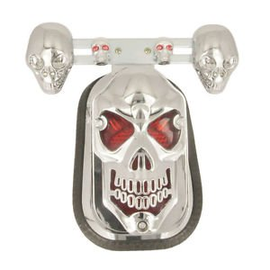 Skull Turn Signal Brake Rear Tail Lights Honda Yamaha Suzuki Kawasaki Motorbike