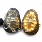 Smoke Flush Mount LED Turn Signals Lights Indicator For  YAMAHA YZF R1 R6 R6S
