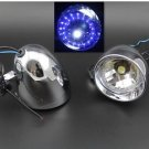 "Pair 4"" LED Angel Eye Motorcycle Custom Driving Passing Spot Fog light Motorbike"