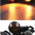 Skull Metal Turn Lights Signal Indicator Motorbike For Harley Chopper Bobber