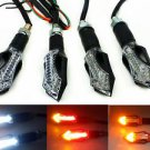 2 Pairs LED Running Brake Tail Turn Signal Lights Indicator Motorcycles Scooters