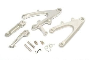 Silver Front Set Rider Foot Pegs Footrest Bracket For Yamaha YZF-R1