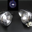 "Chrome 5"" Colorful LED Driving Passing Fog Head light Lamp Motorcycle Intruder"