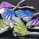 Skull Skeleton Motorcycle Rear Side Mirrors Motorbike Motorcycle Chopper Cruiser