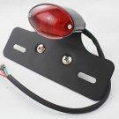 Motorcycle ATV Cat Eye Tail Light Custom License Plate Holder Relocator