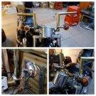 Universal Mirrors Turn Lights Adapter Clamp Mount ATV Motorcycle Handlebar Bike