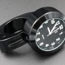 "7/8""- 1"" BLACK Motorcycle handlebar Clock for YAMAHA V STAR ROAD RAIDER STRYKER"
