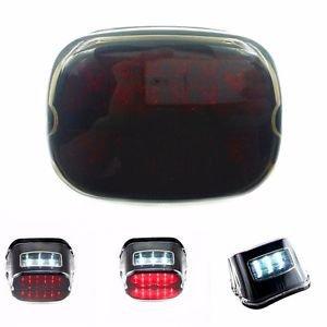 LED Tail Brake Light License Plate Lamp For Harley Road King Sportster Dyna FXDL