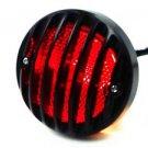 Black Round Tail Brake Light For Harley Sportster Bobber Custom Chopper XL Rat