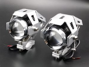 2 X LED U5 CREE Spot Work Driving Fog Light For HARLEY SPORTSTER 883 Clubman BMW