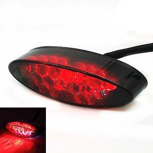 Smoke LED Tail Running Brake Light For Super Moto ATV Dirt Bike Dual Sport MX DR