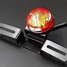 Motorcycle LED Tail Brake Light w/ License Plate Mount for Harley Bobber Chopper