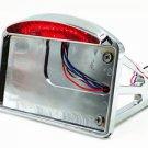 LED SIDE MOUNT LICENSE PLATE BRACKET TAIL LIGHT For CB750 XS650 Chopper Bobber