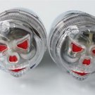 3D RED EYE SKULL BULLET TURN SIGNALS for HARLEY SHADOW V-STAR VULCAN BOULEVARD