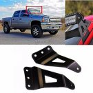 "50"" Curved Led Light Bar Top Roof Upper Windshield Mount Brackets for Chevy GMC"