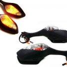 LED Turn Signal Side Mirrors for 08-11 Honda CBR1000RR CBR 1000 RR 08 09 10 11
