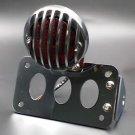 Chrome Side Axle Brake Stop Tail Light License Plate Bracket For Harley Cruiser