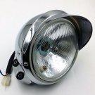 Bottom Mount Headlight Lamp for Harley Yamaha Kawasaki Suzuki Cruiser Chopper XL