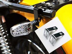 Motorcyle Rear TURN SIGNAL Relocater Holder Seat Mount Bracket Bobber Cafe Racer