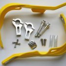 Yellow BRUSH HAND GUARDS for HONDA CR CRF XR DIRT BIKE 125 200 250 650 ATV