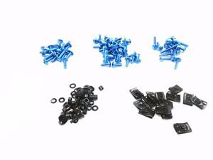Blue Racing Fairing Bolt Kit Body Fasteners Clip Screws Motorcycle Sport Bike ZX