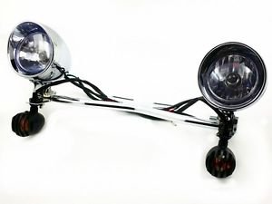 Grille Turn Signal Spot light Bar For Honda Shadow VT Cruiser ACE Aero Spirit RS