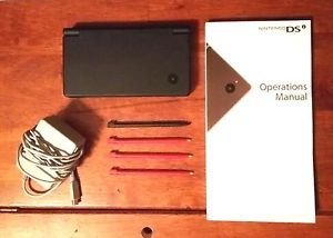 Nintendo DSi System, Charger, Manual, & Extra Styluses