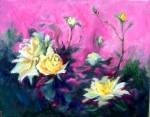 """""""Stages of Growth"""" Floral Oil Painting by Listed California Artist Impressionism"""