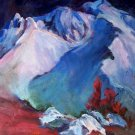 """Darkness At Mt Lassen"" California Plein-air Landscape Oil Painting Acosta Listed Artist"