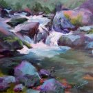 """Brandy Creekside"" Original Plein-Air California Landscape Listed Artist Acosta, Impressionism"