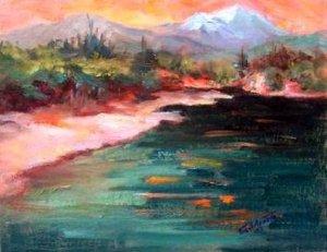 "SALE: ""Brandy Creek Beach"" Plein-Air California Landscape Oil Painting Acosta, Impressionism"