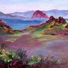 """Coastal Scene At Morro Bay"" Plein-Air Calif Landscape Oil Painting listed Artist Acosta"