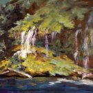 """Vail of Tears"" Original Calif Landscape Oil Painting Impressionism"