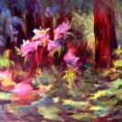 """Forest Flower"" Original Calif Landscape Oil Painting Impressionism Listed Artist Acosta"