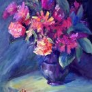 """DaisyMay"" Original oil painting still life listed  award-winning Acosta colorist"