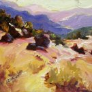 """Sonoma County"" Orig oil painting Calif landscape impressionism colorist Acosta"