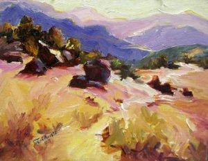 """Sonoma County"" Orig oil painting Calif landscape impressionism colorist Acosta"
