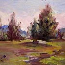 "SALE ""Landscape Study"" Orig landscape oil painting impressionism by listed Acosta artist"