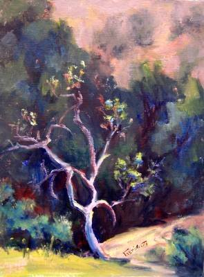 """""""Standing Alone"""" Original Plein-Air Calif Landscape Painting by Listed Acosta Artist"""