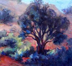 Original Calif Landscape Oil Painting by Listed Colorest Acosta